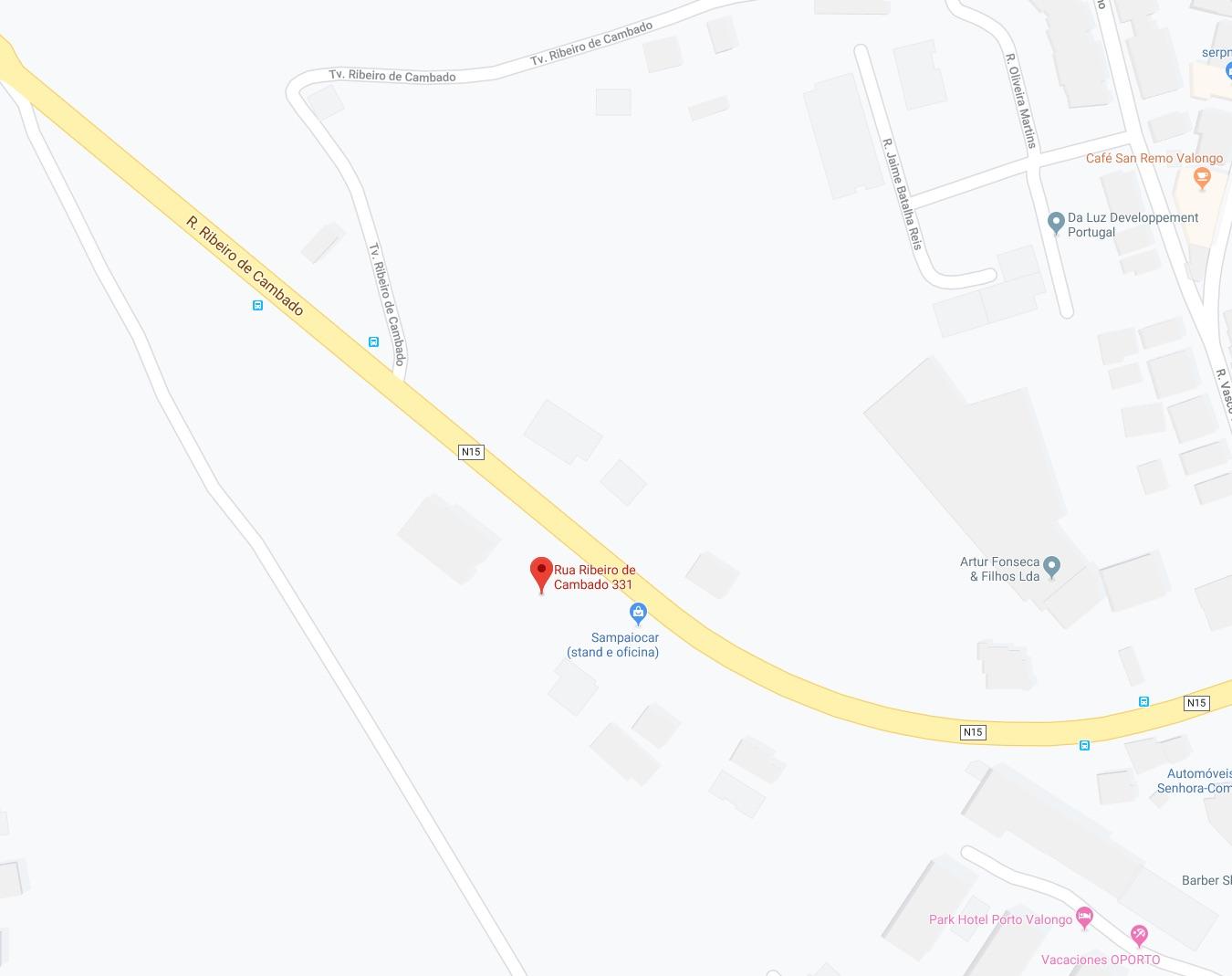 Localização do restaurante no Google maps
